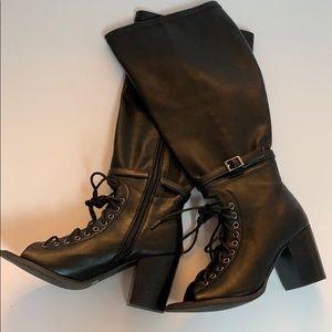 Torrid Black Lace Up Boots